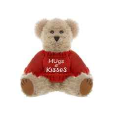 Teddy Bear Message Hugs & Kisses Jumper Red (20cmHT)