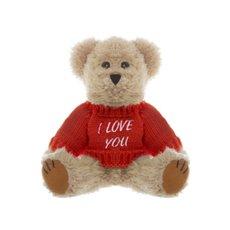 Teddy Bear Message I Love You Jumper Red (20cmHT)