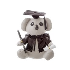 Graduation Teddy Bears - Graduation Koala Bear with Pen Grey (25cmST)