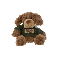 Everett Message Dog Friends Forever Brown (19cmST)