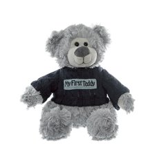 Grayson Message Bear My First Teddy Grey (19cmST)