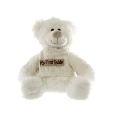 Ella Message Bear My First Teddy Beige  (19cmH)