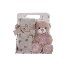 Baby Gift Sets - Harper Teddy Bear Gift Pack Dusty Pink (20cmST)