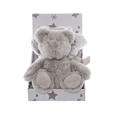Baby Gift Packs - Bernett Teddy Bear Gift Pack Grey (16cmST)