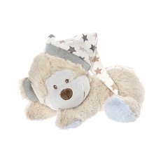 Baby Animal Soft Toys - Eli Monkey Sleeping Brown Blue (22cmHT)