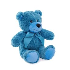 Jelly Bean Teddy Bear Cobolt Blue (20cmST)