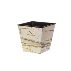 Flora Flower Pots & Planters - Flora Pot V-Shape Square (13.5x12.5cmH) Printed Birch