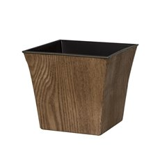 Flora Flower Pots & Planters - Flora Pot V-Shape Square (16x14cmH) Walnut
