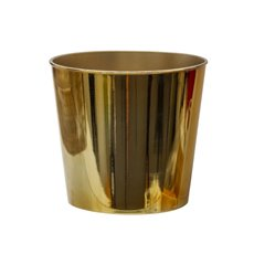 Flora Flower Pots & Planters - Flora Chrome Pot Round (17Dx15.5cmH) Gold