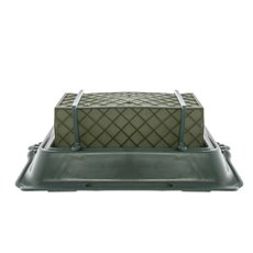 Cages, Casket Covers & Trays - Single Casket Saddle Tray Caged Floral Foam 35x24.5x11.5cmH