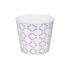 Plastic Planters Geometric Design Round Purple (15.5Dx13cmH)
