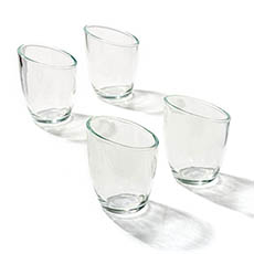 Candle Holders - Glass Votive Candle Holder Arena (7.6Dx9cmH) Clear