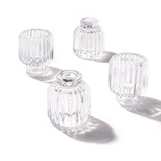 Tealight Candle Holders - Glass Craft Ripple 2 in 1 Candle Holder Crystal (9x10cmH)