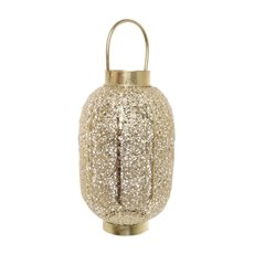 Darien Filigree Cylinder Lantern Light Gold (20cmDx37cmH)