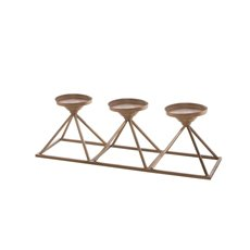 Metal Candle Holder Pyramid Rose Gold ( 49x16x15cmH