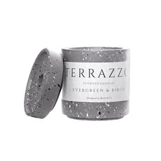 Scented Candle Jars & Containers - Scented Candle Terrazzo Large Evergreen & Birch (9x11cmH)