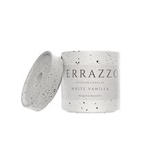 Scented Candle Jars & Containers - Scented Candle Terrazzo Large White Vanilla (9x11cmH)