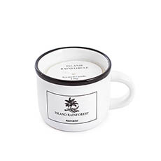 Scented Candle Jars & Containers - Scented Candle Coffee Cup Island Rainforest (8.5x8.5cmH)