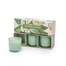 Scented Candle Jars & Containers - Blossom Scented Candle Gift Set Jasmine & Sage Set 3