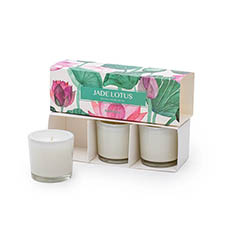 Scented Candle Jars & Containers - Blossom Scented Candle Gift Set Jade Lotus Set 3