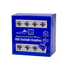 Tealight Candles - Tealight Candle 9Hr 100 Pack Bulk Pack White