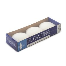 Floating Candles - Floating Candle 7hr White (7x3.5cmH) Pack 3