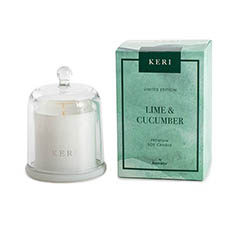 Keri Limited Soy Candles - Lime & Cucumber Soy Candle Petite Cloche 110g