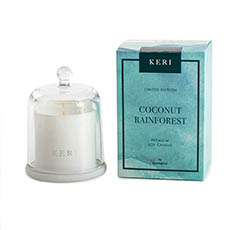 Keri Limited Soy Candles - Coconut Rainforest Soy Candle Petite Cloche 110g