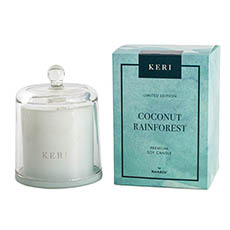 Keri Limited Soy Candles - Coconut Rainforest Soy Candle Large Cloche 260g