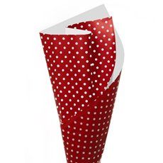 Cello Regal 60mic Dotiva 100 Sheets White Dots on Red (50x70