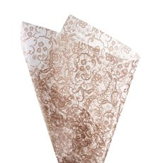 Cello Pattern - Cello Clear Lace 40mic Rose Gold (50x70cm) Pack 100