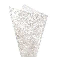Cello Clear Lace 40mic 50x70cm 100sheets White