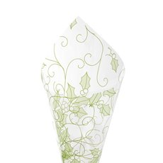 Cello Clear Christmas Holly 40mic 100sh Green (50x70cm)