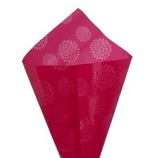 Cello Clear Geometric Flower 40mic 100Pack Hot Pink(50x70cm)