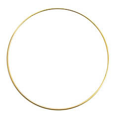 Wreath Supplies - Floral Metal Hoop Ring Gold (35cmD)