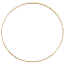Wreath Supplies - Wooden Bamboo Ring Natural (36cmD)