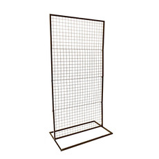 Ceremony Decoration - Backdrop Rectangle Standing Frame inc Mesh Black (1mx2mH)
