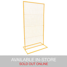 Ceremony Decoration - Backdrop Rectangle Standing Frame inc Mesh Gold (1mx2mH)
