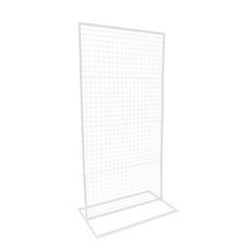 Ceremony Decoration - Backdrop Rectangle Standing Frame inc Mesh White (1mx2mH)