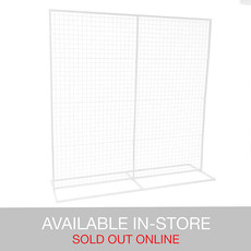 Ceremony Decoration - Backdrop Square Standing Frame inc Mesh White (2mx2mH)