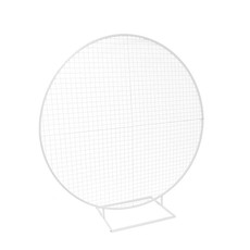 Ceremony Decoration - Backdrop Circular Frame inc Mesh White (2mDx2.1mH)