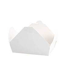 Patisserie & Cake Boxes - Food Pail Large Pack No.4 White (200x140x90mmH)