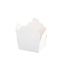Patisserie & Cake Boxes - Food Pail Pack No.1 White (100x90x60mmH)