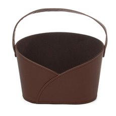 Hamper Basket Oval with Handle Brown (26x17x18cmH)