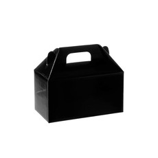 Cardboard Gourmet Box - Gable Box Flat packed Large Black (24x13x13cm)
