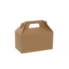 Cardboard Gourmet Box - Gable Box Flat packed Large Brown Kraft (24x13x13cm)