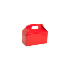 Cardboard Gourmet Box - Gable Box Flat packed Large Red (24x13x13cm)