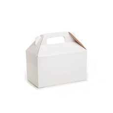 Cardboard Gourmet Box - Gable Box Flat packed Large White (24x13x13cm)