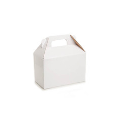 Gable Box Flat packed Medium White (21.5x12x14cm)
