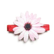 Wooden Peg with Daisy Pink 12 Pack (35mm)